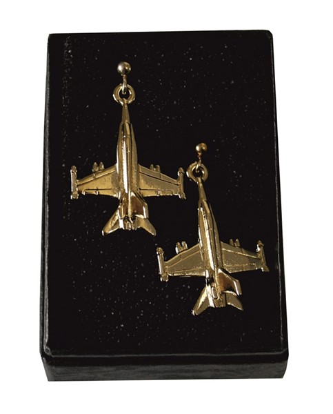 Picture of Earrings F18 Hornet fighting Jet