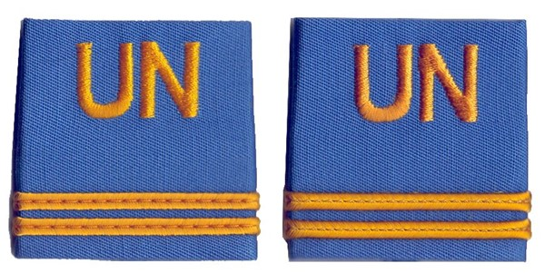 Picture of UN rank insignia First Lieutenant United Nations Troups