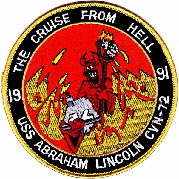 Picture of USS Abraham Lincoln CVN-72 Flugzeugträger The Cruise from Hell 1991