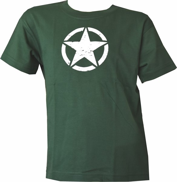 Picture of US Army Star Kinder T-Shirt grün