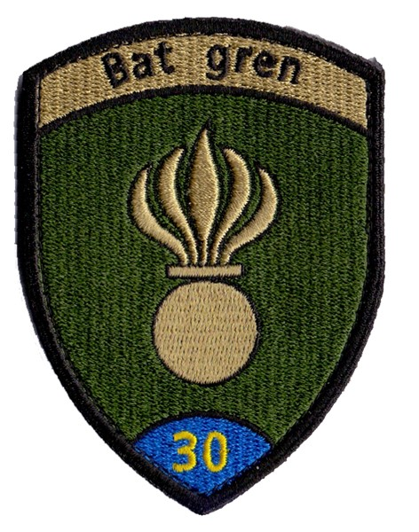 Picture of Grenadier Bat 30 blau mit Klett, Grenibadge