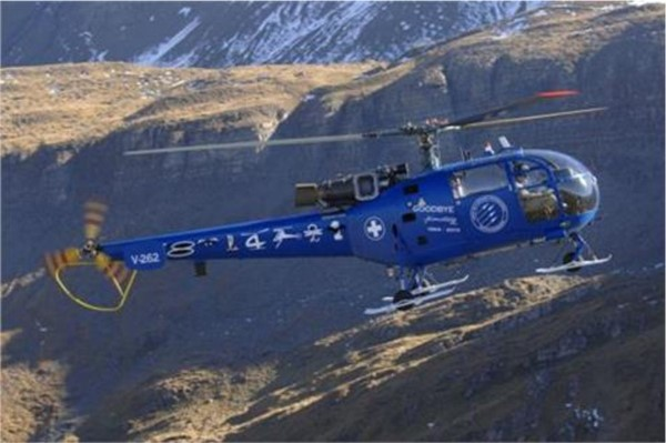 Picture of Heller Alouette III Goodbye Version Schweizer Luftwaffe Plastikbausatz