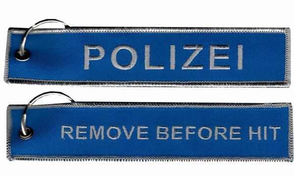 Picture of Polizei Schlüsselanhänger, Remove before HIT