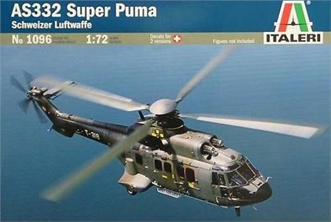 Picture of Super Puma AS332 Helikopter Plastikmodellbausatz ITALERI Schweizer Luftwaffe