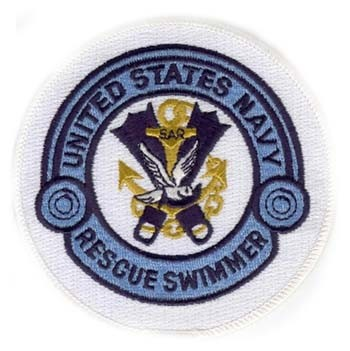 Picture of US Navy Rescue Swimmer weiss / blau