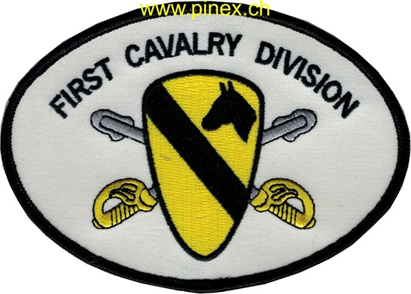 Picture of 1st Cavalry Division Patch weiss gelb