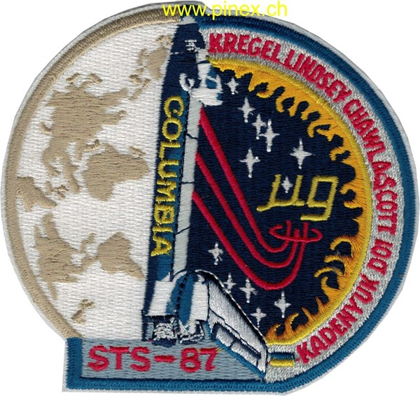 Picture of STS 87 Space Shuttle Columbia NASA Patch