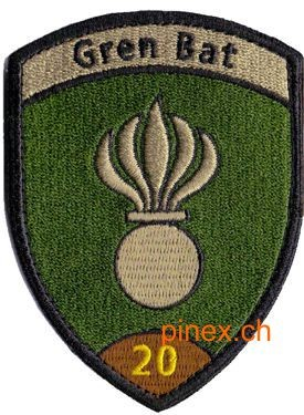 Photo de Grenadier Bat 20 braun Badge mit Klett