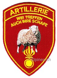 Picture of Artillerie Badge Schweizer Armee 21 fun Patch