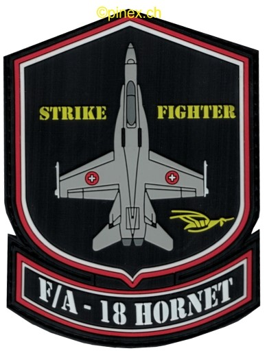 Bild von F/A-18 Hornet Swiss Air Force Strike Fighter PVC Rubber Patch Abzeichen