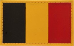 Photo de Belgien Flagge PVC Rubber Patch Abzeichen