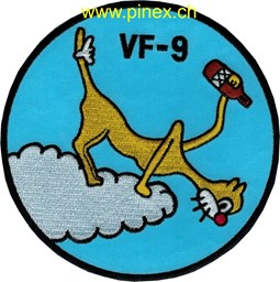 "Bild von VF-9 Staffelpatch ""Cat o nine"""