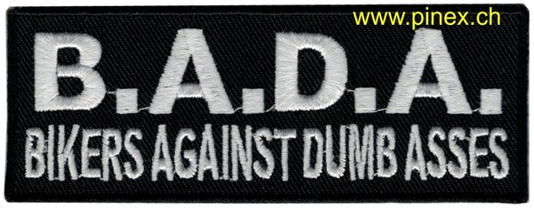 "Photo de Biker Patch ""B.A.D.A."" Abzeichen"