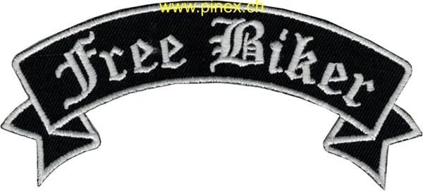 "Photo de Biker Patch ""Free Biker"" Abzeichen"