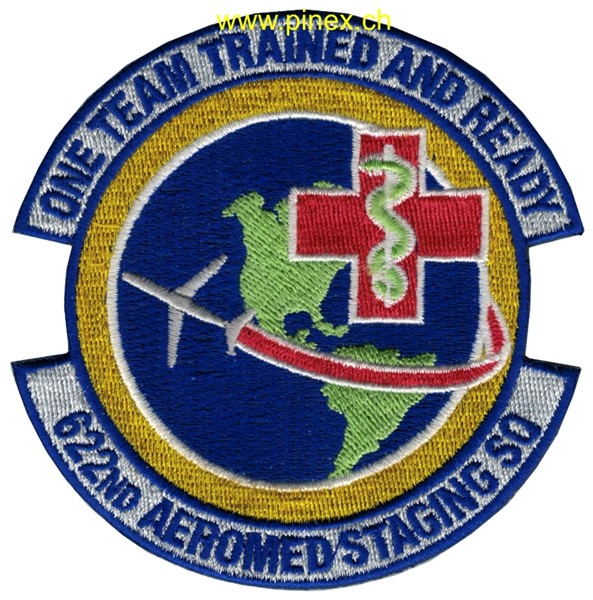 "Photo de 622nd Aeromed Staging Squadron Abzeichen ""one Team trained and ready"""