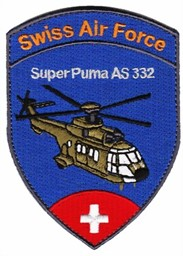 Picture of Super Puma AS332 Swiss Air Force Patch