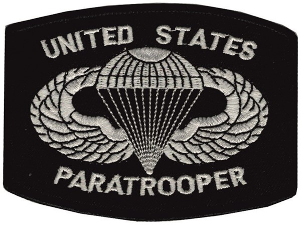 Picture of United States Paratrooper Patch schwarz