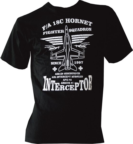 Photo de F/A-18 Hornet T-Shirt avion chasse forces aériennes suisses