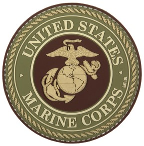 Photo de U.S. Marine Corps Logo grün PVC Rubber Patch