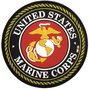 Picture of U.S. Marine Corps Logo Abzeichen rot schwarz PVC Rubber Patch