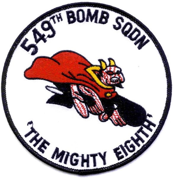 "Bild von 549th Bomb Squadron WWII US Air Force Abzeichen ""The mighty eight"""