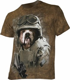Picture of Combat Sam fun T-Shirt with a Dog