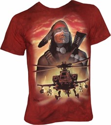 Picture of Apache Kampfhubschrauber AH-64 Warrior T-Shirt Mountain Life