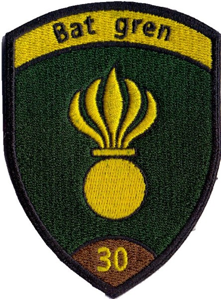 Photo de Bat Gren 30 braun Badge ohne Klett, Grenadier Badge