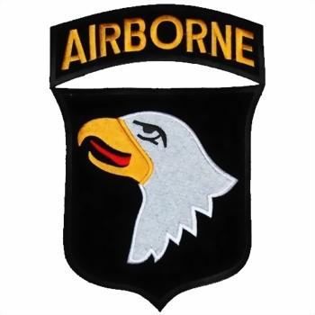 Photo de 101st Airborne Screaming Eagles Logo Large Rückenaufnäher