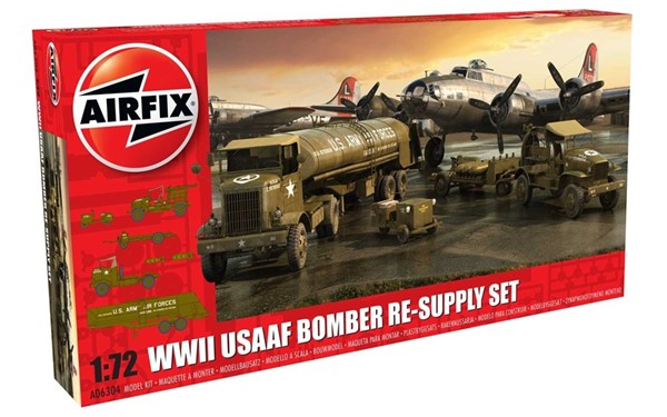 Photo de US Air Force Bomber Re-Supply Set 8th Air Force Modellbausatz 1:72 Airfix
