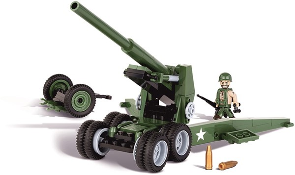 "Picture of Cobi M1 Feldhaubitze ""Long Tom"" US Army WWII Baustein Set"
