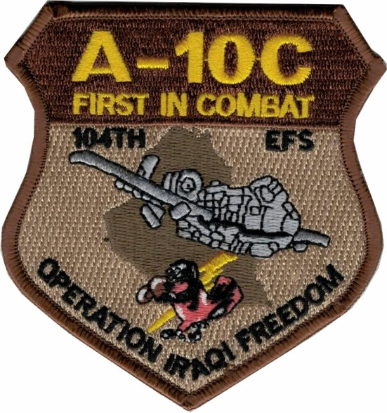 Photo de A-10C Thunderbolt Operation Iraqi Freedom First in Combat Abzeichen