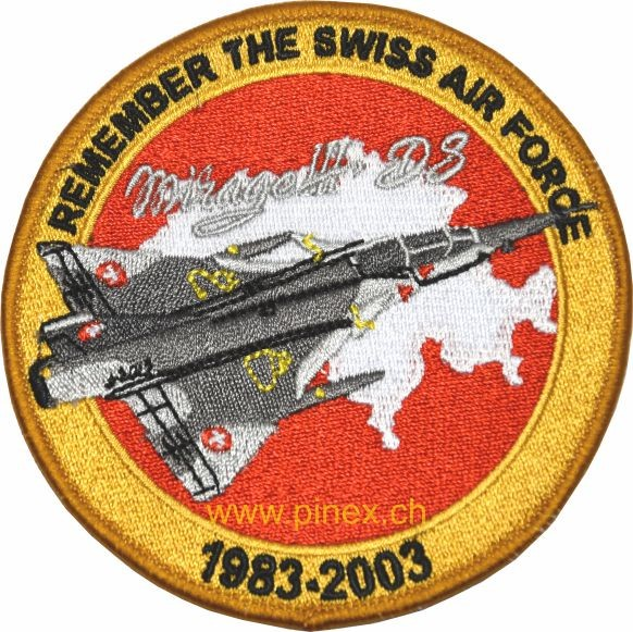 Bild von Mirage 3 DS (Doppelsitzer) Patch Remember the Swiss Air Force