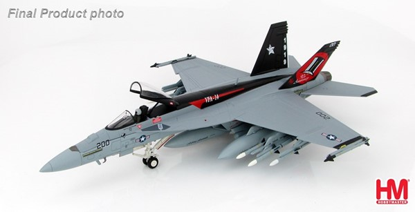 Picture of McDonnell Douglas F/A-18E Super Hornet USS Nimitz VFA-14 Tophatters diecast airplane model 1:72 Hobby Master