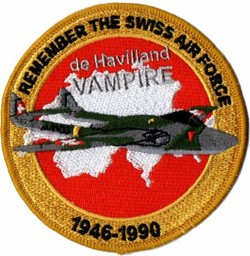 Picture of Swiss Air Force de Havilland Vampire Patches