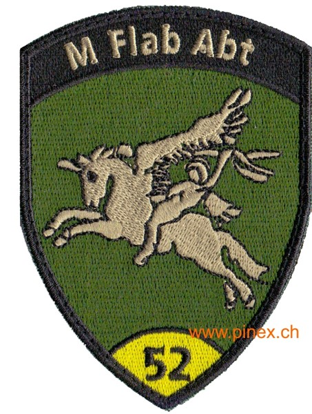 Picture of M Flab Abt 52 gelb mit Klett, Flab Badge