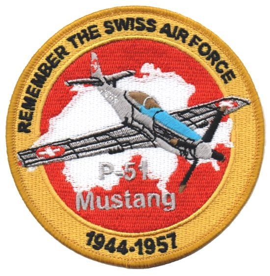 Bild von P-51 Mustang Patch Remember the Swiss Air Force
