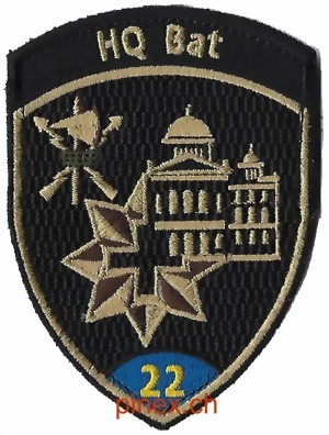 Photo de HQ Bat 22 blau mit Klett Badge Militaire Suisse