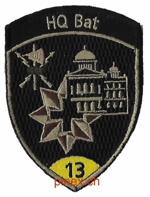 Photo de HQ Bat 13 gelb mit Klett Armee Badge