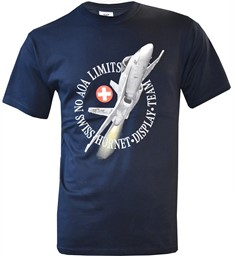 Picture of F/A 18 Hornet NO AOA T-Shirt Navyblau