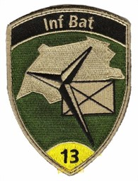 Photo de Badge Inf Bat 13 avec scratch / Velcro