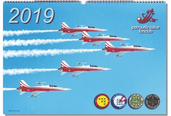 Picture of Patrouille Suisse Fanclub Kalender 2019. Ab Lager lieferbar!