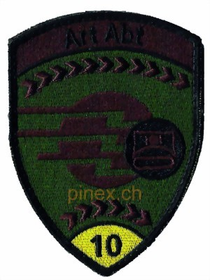 Photo de Art Abt 10 Artillerie Abteilung 10 gelb Armee Badge mit Klett