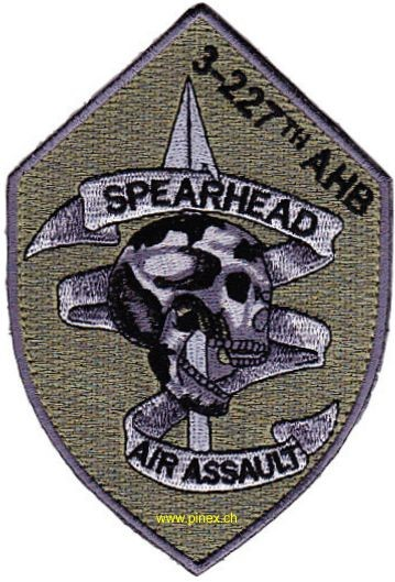 Picture of 3rd Battalion 227th Aviation Air Assault Regiment OD Patch Abzeichen