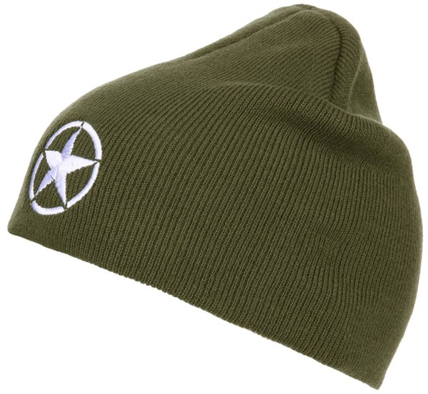 Photo de US Army Star Beanie Winter Mütze Allied Star bestickt