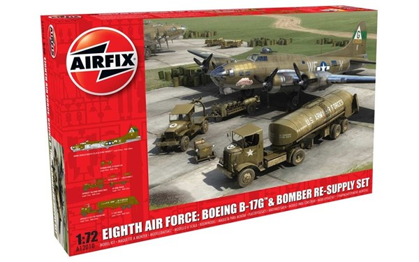 Photo de Eight Air Force Boeing B-17G + Bomber Re-Supply Komplett Set Modellbausatz 1:72 Airfix