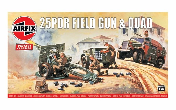 Photo de Maquette a monteur Airfix 25PDR Field Gun & Quad