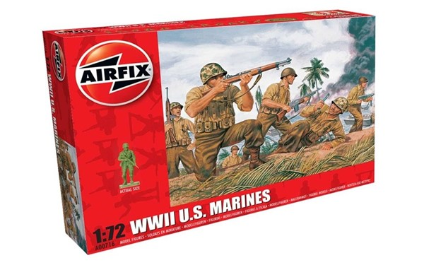Photo de WWII US Marines Soldaten Modellfiguren Airfix 1:72