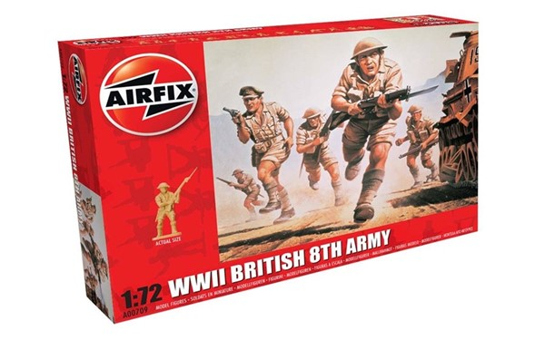 Photo de WWII British 8th Army Soldaten Modellfiguren Airfix 1:72