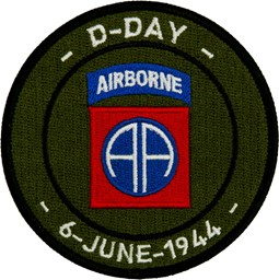 Photo de 82nd Airborne D-Day 6 June 1944 Aufnäher Abzeichen